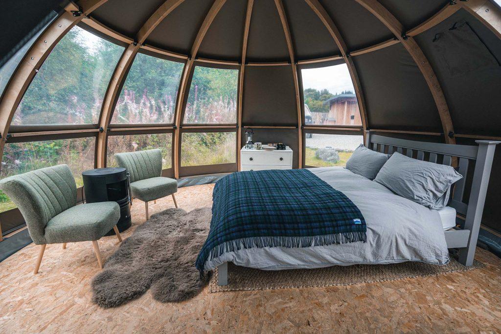 Inside the beautiful Panorama Tent